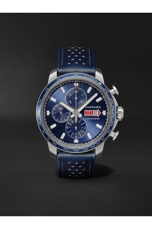 CHOPARD Homme Montres - Mille Miglia GTS Azzurro Chrono Automatic Limited Edition 44mm Stainless Steel and Leather Watch, Ref. No. 168571-3007