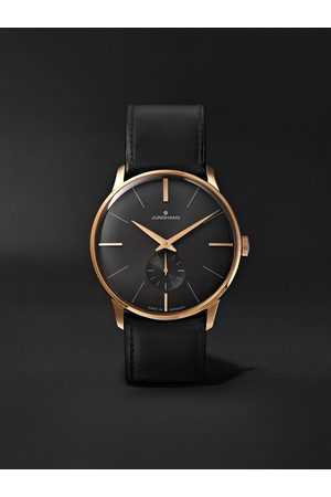 Junghans Homme Montres - Meister Handaufzug Hand-Wound 37.7mm Stainless Steel and Leather Watch, Ref. No. 027/5903.00