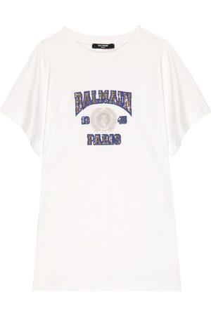Balmain T-shirt en coton à sequins
