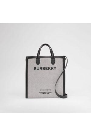 Burberry Homme Cabas - Cabas en cuir et toile Horseferry