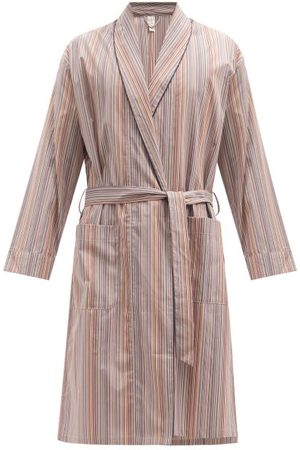Paul Smith Peignoir en coton rayé Signature Stripe