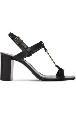 Saint Laurent 75mm Cassandra Leather Sandals