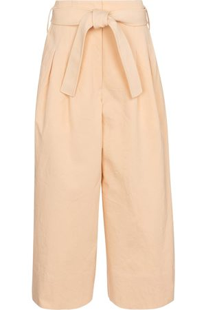 Jil Sander Pantalon ample à taille haute en coton