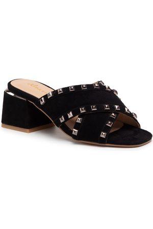 Alma en Pena Femme Mules & Sabots - Mules / sandales de bain - V21284 Suede Black