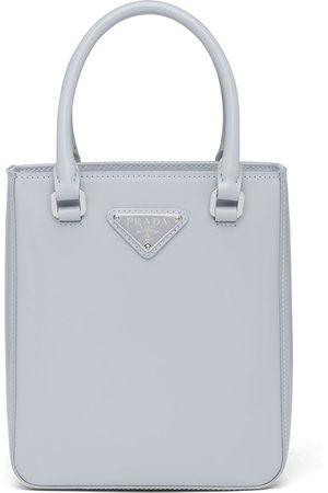 Prada Femme Cabas - Petit sac cabas à plaque logo