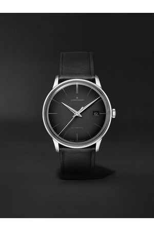 Junghans Homme Montres - Meister Automatic 38mm Stainless Steel and Leather Watch, Ref. No. 027/4051.00