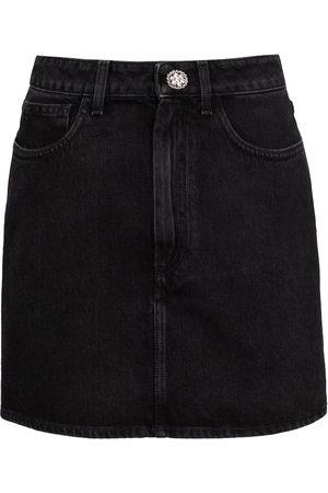Alessandra Rich Mini-jupe en jean à ornements