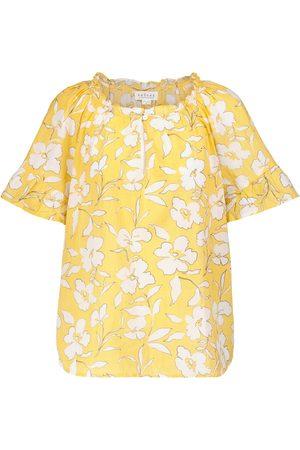 Velvet Top Idette en coton à fleurs