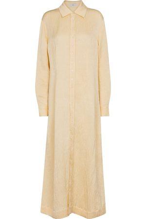 CO Robe longue en lin mélangé
