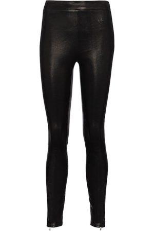 J Brand Femme Leggings & Treggings - Legging skinny Octavia à taille haute en cuir
