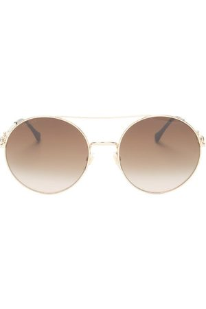 Gucci Femme Lunettes de soleil - Lunettes de soleil aviateur en métal Horsebit