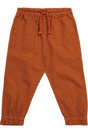 Caramel Pantalon Shrimp en coton à pois