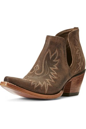 Ariat Women's Dixon Western Boots in Weathered Brown Leather