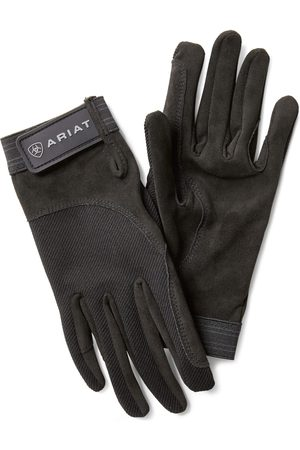 Ariat TEK Grip Gloves in Black Cotton Twill