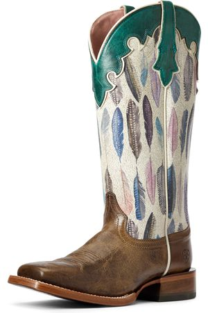Ariat Women's Fonda Western Boots in Tucson Taupe Leather