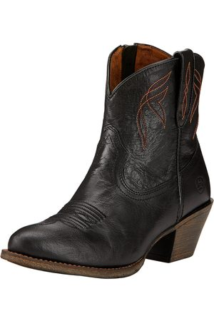 Ariat Women's Darlin Western Boots in Old Black Leather