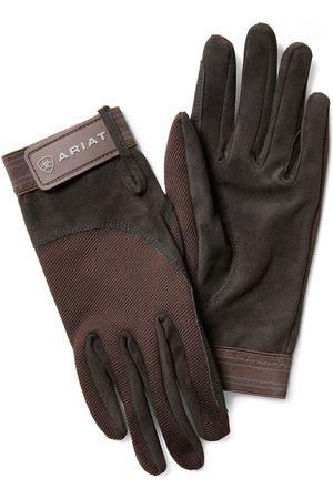 Ariat Tek Grip Gloves in Bark Cotton Twill