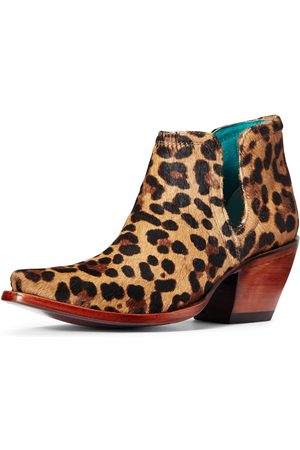 Ariat Women's Dixon Haircalf Western Boots in Leopard Hair On Leather
