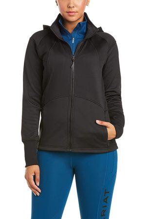 Ariat Women's Wilde Full Zip Sweatshirt Long Sleeve Fleece in Black