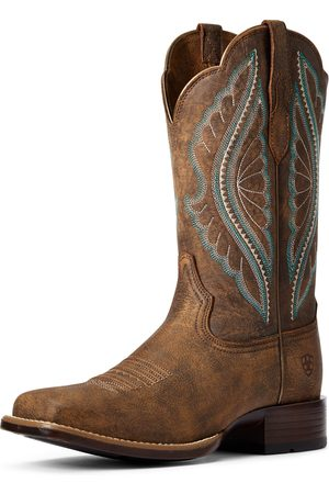Ariat Women's PrimeTime Western Boots in Tack Room Brown Leather