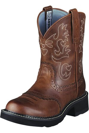 Ariat Femme Chaussures - Women's Fatbaby Saddle Boot in Russet Rebel Leather