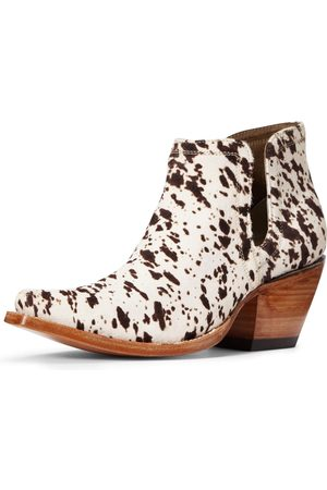Ariat Femme Cowboy & Bikerboots - Women's Dixon Haircalf Western Boots in Cow Hair On Leather
