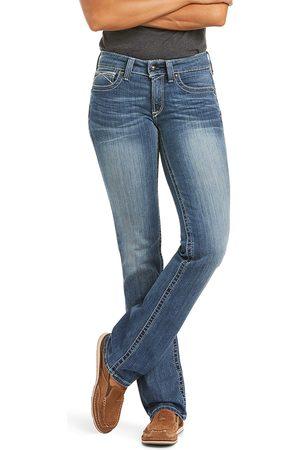 Ariat Femme Coupe droite - Women's R.E.A.L. Straight Leg Jeans in Rainstorm Cotton