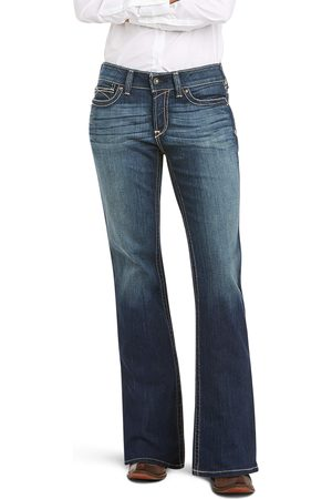 Ariat Women's R.E.A.L Mid Rise Original Boot Cut Jeans in Spitfire Cotton