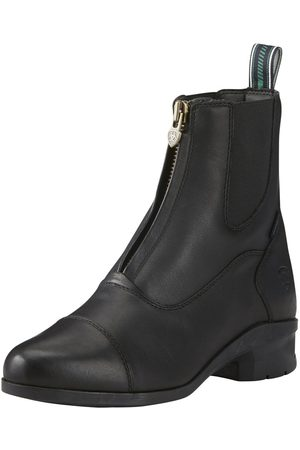 Ariat Femme Bottines - Women's Heritage IV Zip Paddock Waterproof Boot in Black Leather