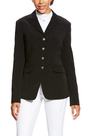 Ariat Women's Palladium Show Coat Long Sleeve in Black Cotton Twill