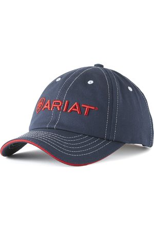 Ariat Casquettes - Team II Cap in Navy/Red Cotton Twill