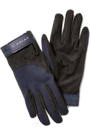 Ariat Gants - Tek Grip Gloves in Blue Cotton Twill