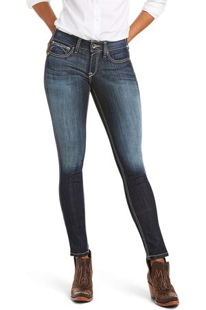 Ariat Women's R.E.A.L. Mid Rise Stretch Outseam Ella Skinny Jeans in Celestial Cotton