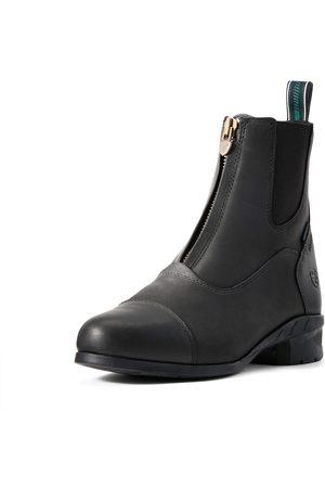 Ariat Femme Bottines - Women's Heritage IV Zip Waterproof Insulated Paddock Boots in Black Leather