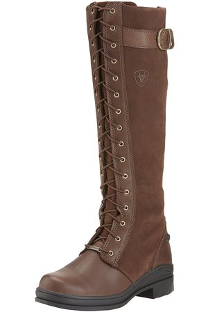 Ariat Women's Coniston Waterproof Boots in Chocolate Cotton