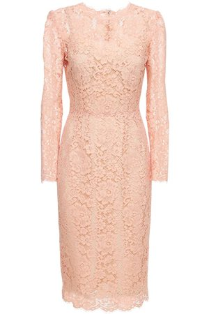 Dolce & Gabbana Femme Robes midi - Robe Midi Imitation Dentelle De Viscose Et Coton