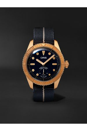 Oris Homme Montres - Carl Brashear Limited Edition Automatic 40mm Bronze and MN Stretch-Nylon Webbing Watch, Ref. No. 01 401 7764 3185-Set