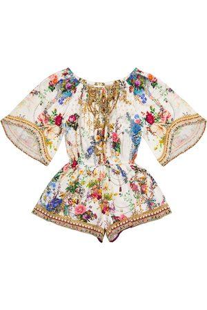 Camilla Combi-short en coton à fleurs