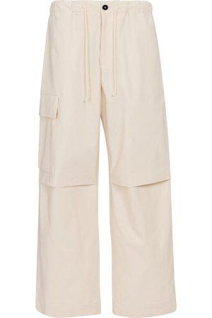 Jil Sander Pantalon cargo ample à taille haute en coton