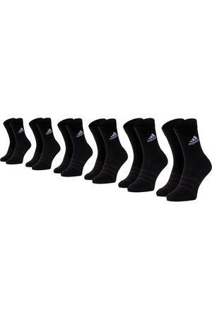 adidas Lot de 6 paires de chaussettes hautes unisexe - Cush Crw 6Pp DZ9354