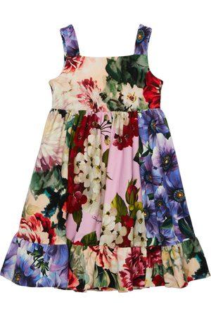 Dolce & Gabbana Robe En Coton Interlock Imprimé Floral