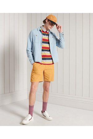 Superdry Homme Polos - Polo en coton biologique à rayures Cali