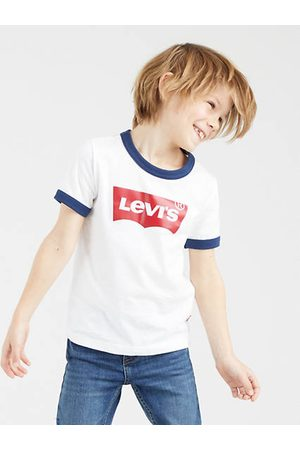 Levi's Manches courtes - Kids Batwing Ringer Tee / White
