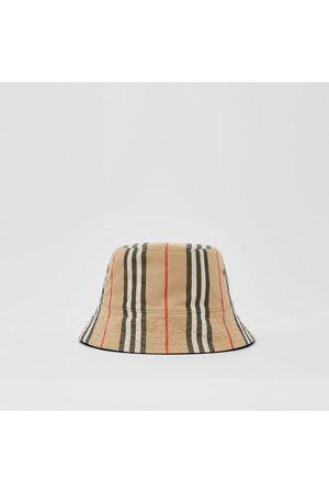 Burberry Femme Chapeaux - Bob réversible en coton à rayures iconiques
