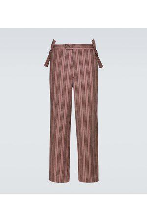 BODE Homme Pantalons classiques - Pantalon rayé Taconic en laine