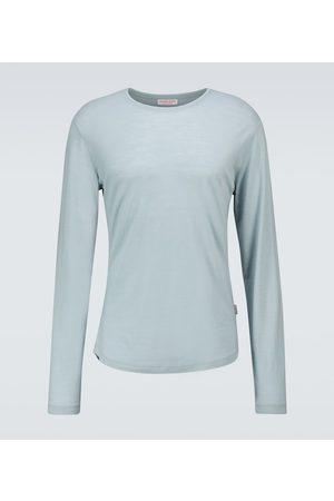 Orlebar Brown Homme Manches longues - T-shirt à manches longues OB-T en laine mérinos