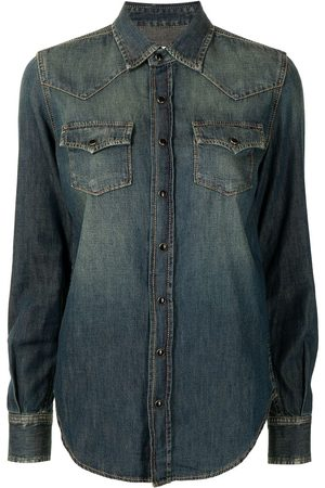 Saint Laurent Chemise en jean à boutons pression