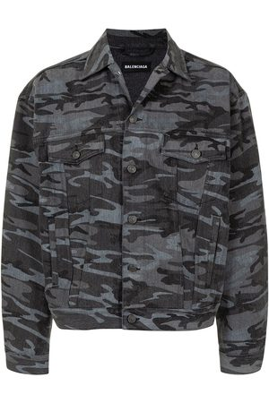 Balenciaga Veste en jean à imprimé camouflage
