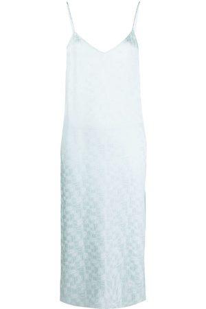 Palm Angels Robe-nuisette à imprimé monogrammé