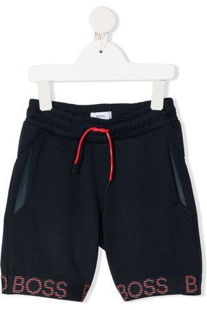 HUGO BOSS Garçon Shorts - Short de jogging à bande logo